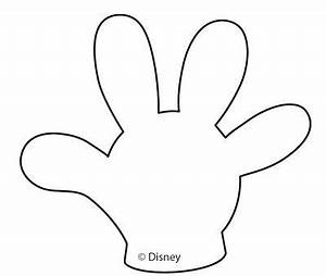 Molde del guante de mickey mickey minnie party for Free mickey mouse hand template