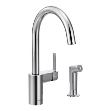 moen touch kitchen faucet moen 7165 align one handle high arc kitchen faucet chrome