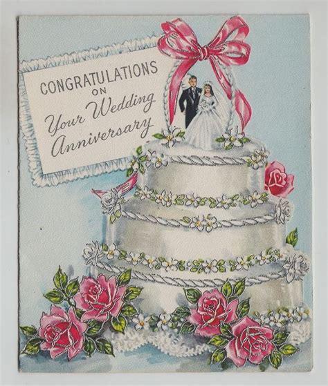 vintage beautiful wedding cake bride groom greeting card