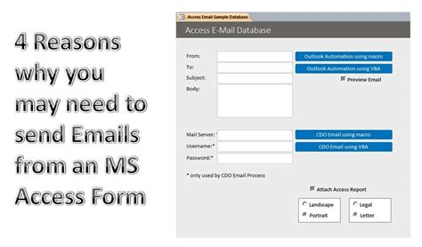 to send a 4 reasons why you need to send emails from ms access form need