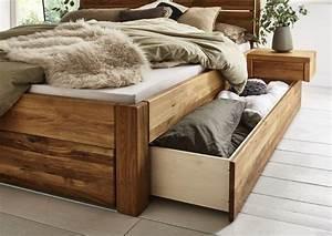 Massiv Bett 140x200 : massivholzbett mit 3 schubladen 140x200 54 cm eiche ge lt kopfteil 2 geteilt mit rahmen ~ Indierocktalk.com Haus und Dekorationen