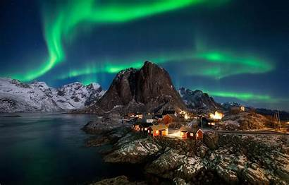 Norway Lofoten Lights Polar Islands Porbital Island