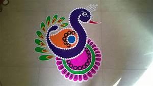 Peacock, Rangoli, Design, New