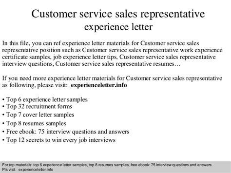 Resume For Customer Service Representative With No Experience by Customer Service Sales Representative Experience Letter