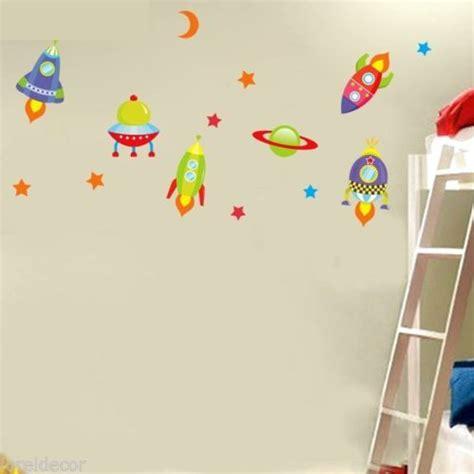 si鑒e mural pegatinas decorativas infantiles para niños mural infantil cohetes y