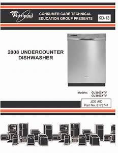 Whirlpool Dishwasher Service Manual Gu2800 Gu3600