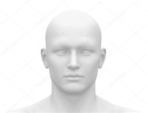 Blank White Male Head