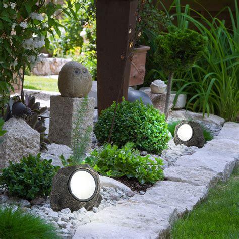 Garten Deko Leuchten by 10er Set Led Garten Deko Solar Leuchten Steine Ip44