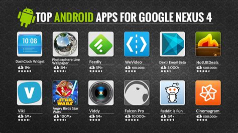 Top Android Apps For Google Nexus 4  Top Apps