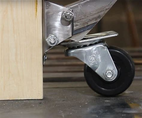 retractable casters woodworking bench