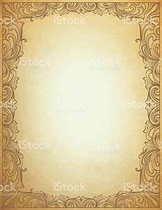 Parchment Scroll Frame Stock Vector Art & More Images of ...