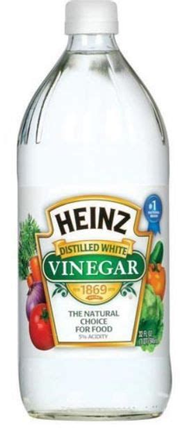 I use a 50% white vinegar to 50% water solution for