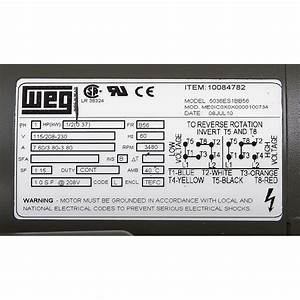 1  2 Hp 115  230 Volt Ac 3480 Rpm Motor