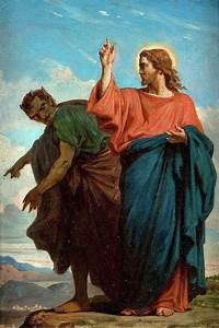 The Temptation Of Christ By The Devil Painting by Felix
