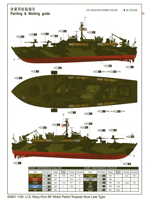 Pt Boat Markings by Modeler Merit International 1 48 Scale U S Navy