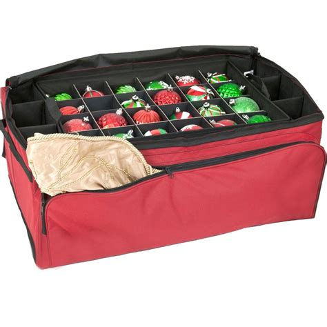 christmas ornament storage bag in ornament storage boxes