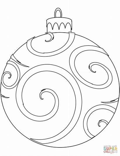 Ornament Coloring Christmas Pages Holiday Ornaments Printable