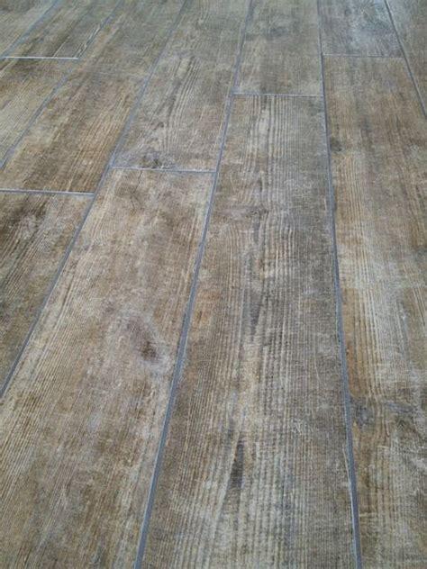 wood looking tile rustic oak finish bathroom and