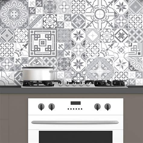 stickers carreaux cuisine 60 stickers carrelages azulejos design vintage nuance de
