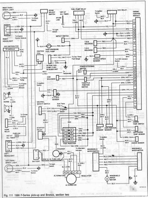 Electrical Wiring Diagram Ford Bronco Series