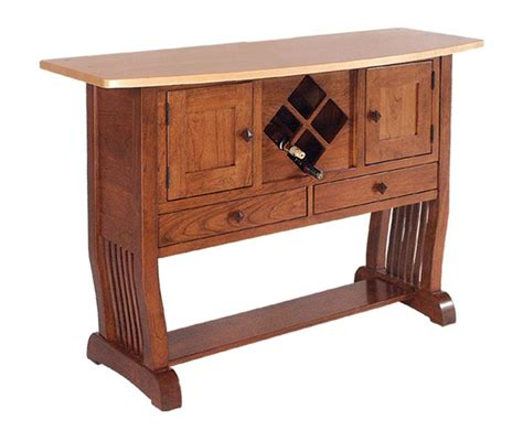 Amish Sideboard by Amish Royal Mission Sideboard With Wine Rack