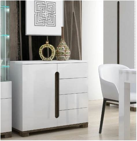 High Sideboard by Lorenz High Gloss White Narrow Small Sideboard Storage