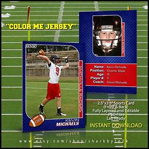 Trading Card Template Photoshop Football Sports Trader Card Template For Photoshop By
