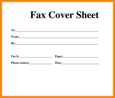 basic fax cover sheet  information  basic fax
