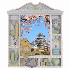 sticker trompe l39oeil himeji castle pour chambre d39enfants With affiche chambre bébé avec voyage japon cerisiers en fleurs