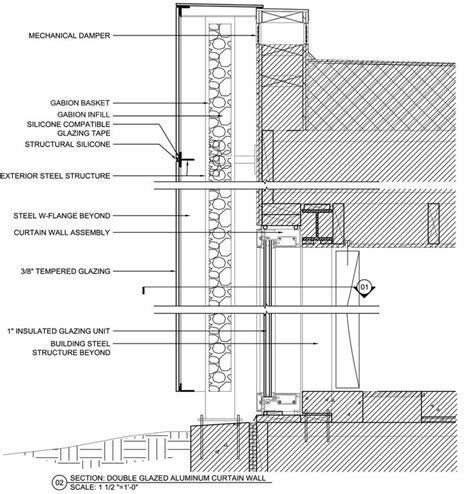 curtain wall detail images con det
