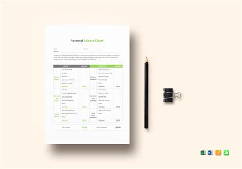 balance sheet templates   word excel