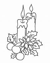 Coloring Pages Candle Christmas Decoration Print Coloringtop sketch template