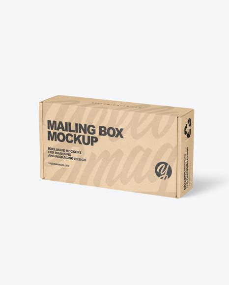 62 items in top and front views. Kraft Paper Mailing Box Mockup in Box Mockups on Yellow ...
