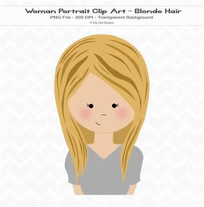 Blonde Clipart Hair Haired Fair Clip Woman