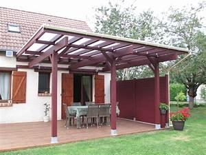 Abri De Terrasse : l ossature bois exploit e en abri terrasse une belle ~ Premium-room.com Idées de Décoration