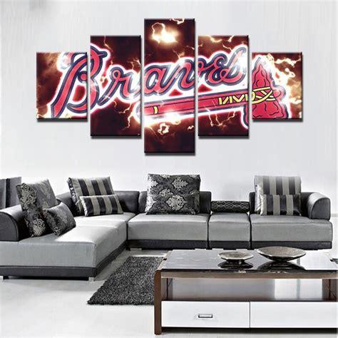 Shop for atlanta braves team shop in mlb fan shop. Atlanta Braves 4 - Sport 5 Panel Canvas Art Wall Decor - Canvas Storm