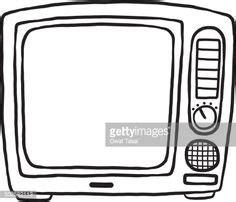 tv  television cartoon vector  illustration black