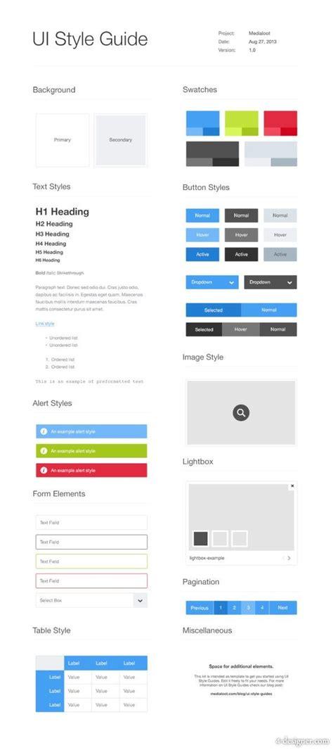 Desarrollo Web Templat by Ui Style Guide Template Ux Design Pinterest