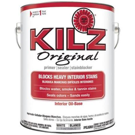 kilz original  gal white oil based interior primer
