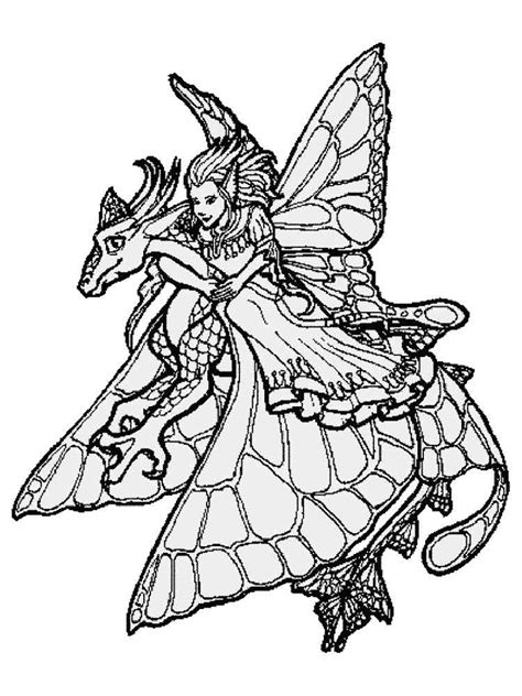 Fairy coloring pages for adults Free Printable Fairy