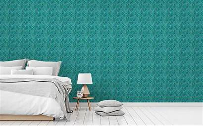 Gems Quilted Teal Watercolor Moroccan