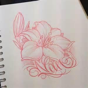 Tribal Flower Tattoo Sketch