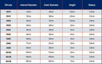 Seals Ring Seal Sizes Table Rubber Dn