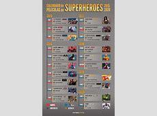 De Vengadores 2 a Cyborg Calendario de superhéroes hasta 2020
