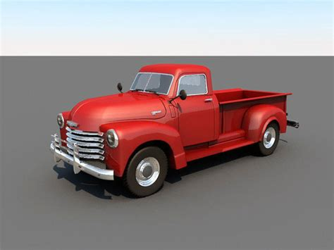 Chevy Trucks Models by 3d Model Chevrolet 1950 Classic Cgtrader