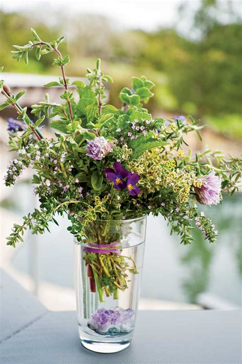 herb florist barefoot in the orchard friday s photo s herb bouquets
