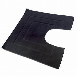 tapis de bain contour wc 60x60cm uni coton flair With tapis salle de bain et contour wc