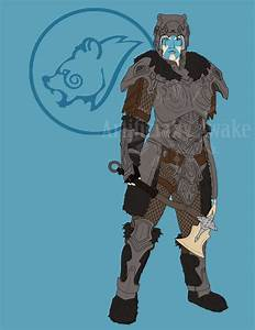 -Skyrim Nord Commission flat colored- by ArtificiallyAwake ...