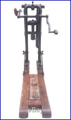 antique barn beam boring machine drill press timber