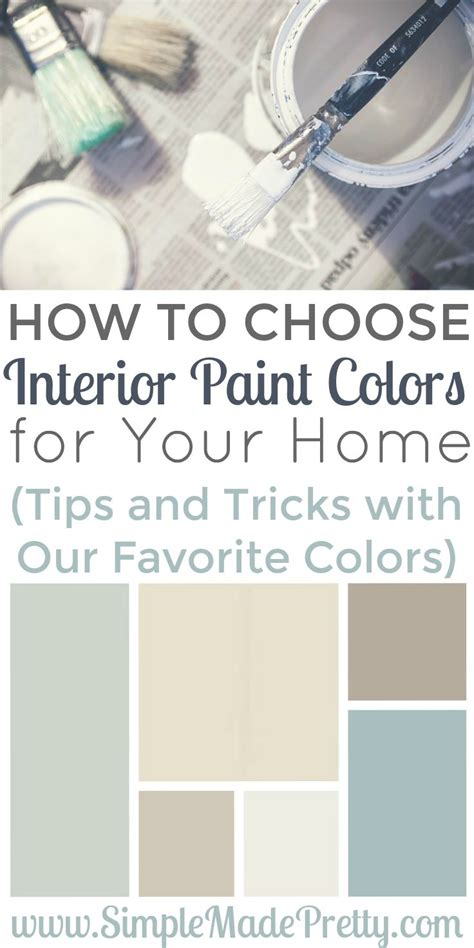 choosing interior paint colors for your home can be
